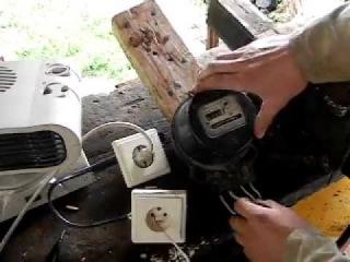 Остановка индукционного электросчетчика без магнита