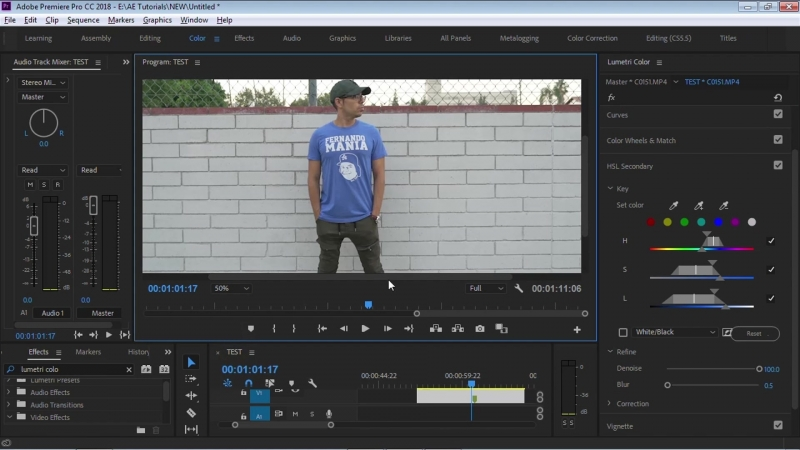Premiere After Effects Tutorial - Change any Color with Lumetri HSL Secondary Color Corrector