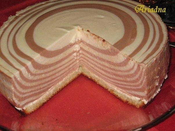 Торт зебра творожный рецепт пошагово в домашних условиях