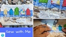 Sew With Me, Creating a Background with Fabric Scraps