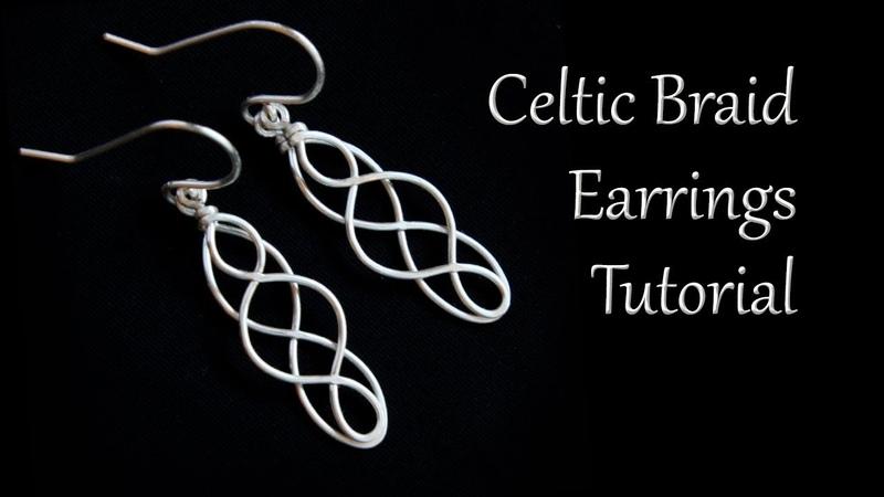 Celtic Braid Dangle Earrings Tutorial - Easy and Beginner Friendly