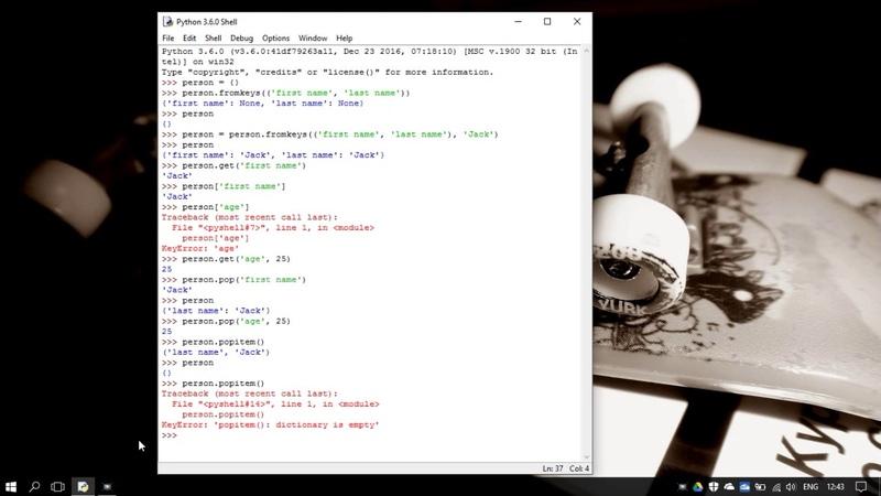 39. Методы работы со словарями в Python 3 - dict methods (Уроки Python) RU