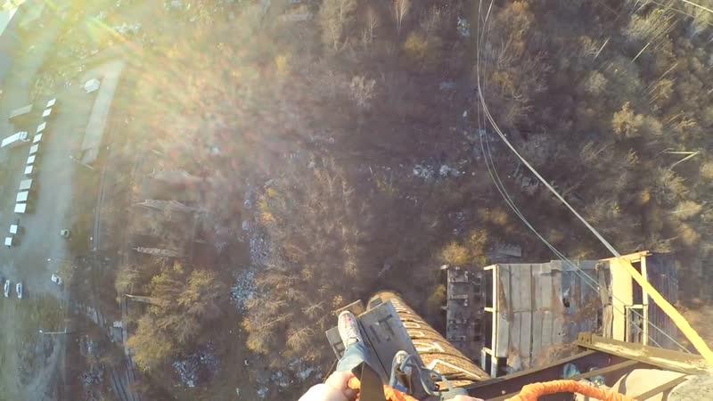 Роуп-джампинг. мой первый прыжок с высоты 50 м