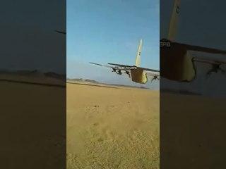 Saudi C130 low pass fly