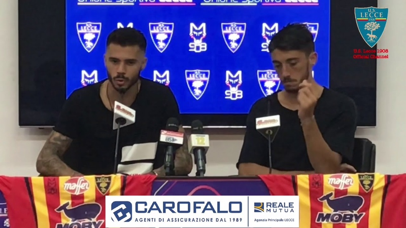 U.S. Lecce: Conferenza Stampa di presentazione Venuti e Meccariello
