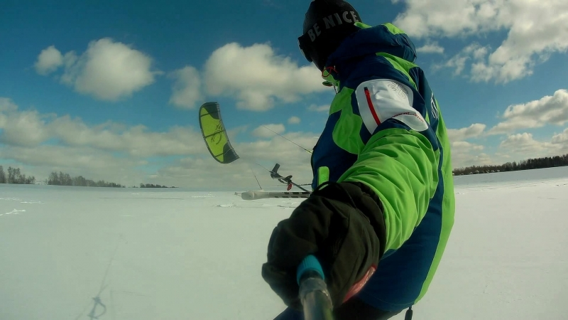 Snowkiting 2018 March