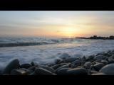 Очень красивый закат и шум моря в Сочи