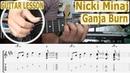 Nicki Minaj, Ganja Burn, Chords, TAB, Guitar Lesson, How to play, Tutorial