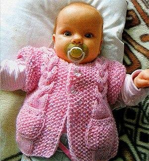 Жилетка для малышки. Вязание на спицах