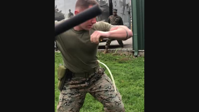 Today one of our Marines got OC Sprayed, definitely took it like a champ. What do y'all think