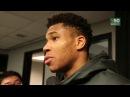 Giannis Antetokounmpo Postgame Interview | Bucks vs Spurs | November 10, 2017 | 2017-18 NBA Season