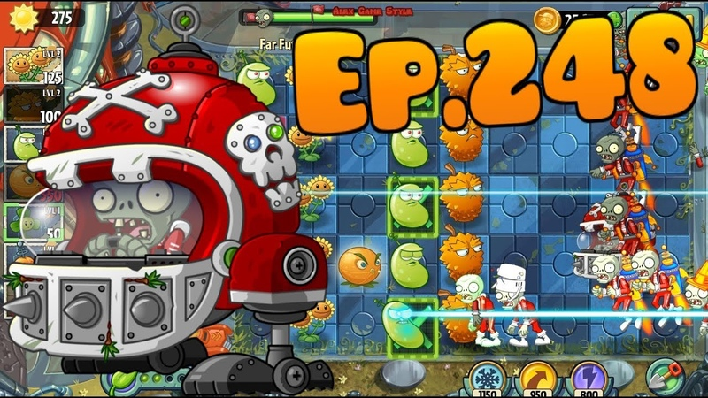 Plants vs. Zombies 2 || New Mecha-Football Zombie, new plant Infi-nut - Far Future Day 13 (Ep.248)