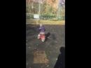 Илья- первая езда на двухколесном велике