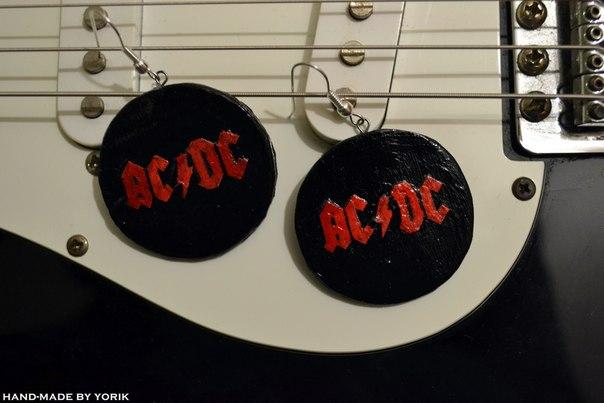 "Серьги ""AC/DC"" #ACDC"