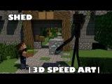 |3D Speed Art|-Minecraft-Шед и Эндермен(Честный обмен)