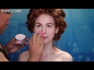 DISNEYS LITTLE MERMAID MAKEUP TUTORIAL on Madelaine Petsch - PatrickStarrr