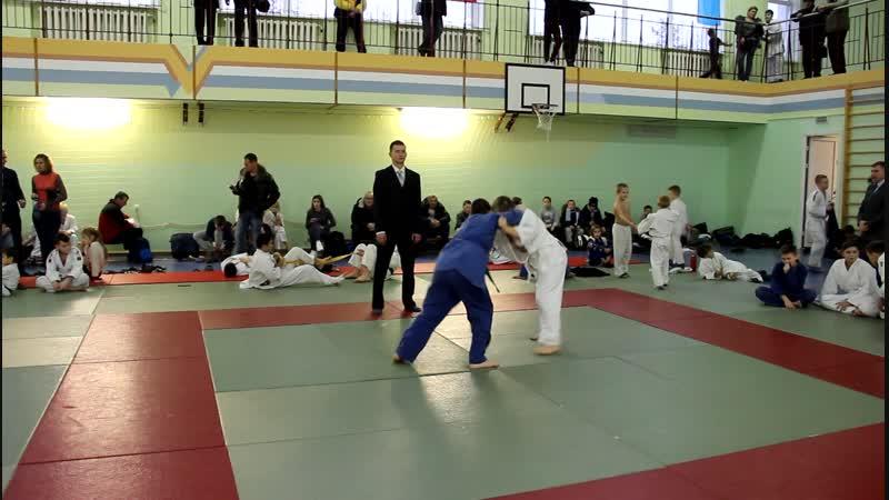Быков Даниил на областном турнире по дзюдо в Чечерске 24.11.18.