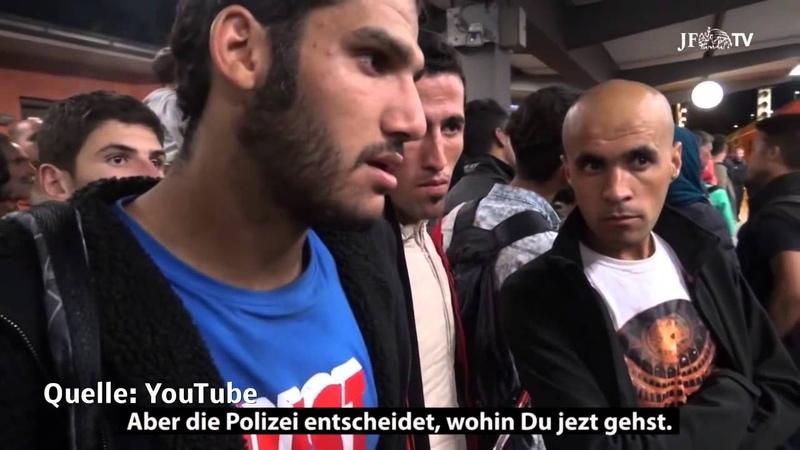 Franz Wiese befragt Flüchtlinge zu Ihrer Flucht