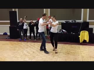 Мария Козловская и Александр Юмашев - Bachata workshop