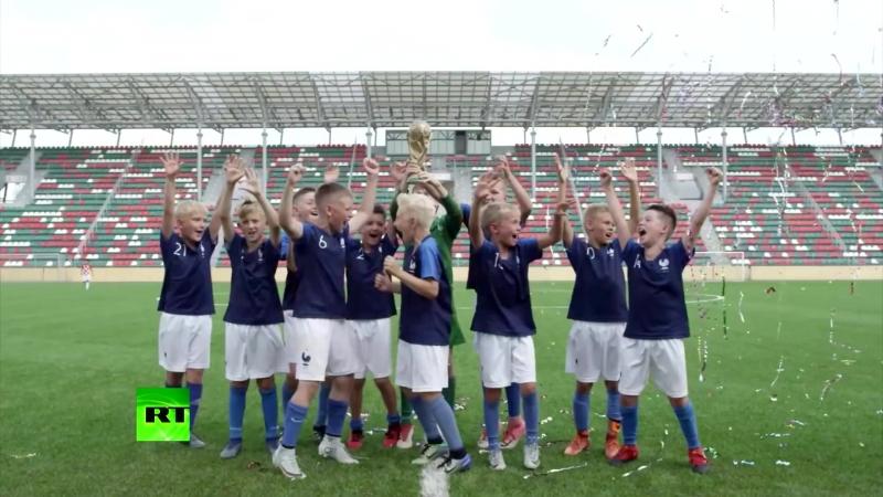 Детский финал воспитанники футбольных школ Москвы повторили финальный матч ЧМ 2018