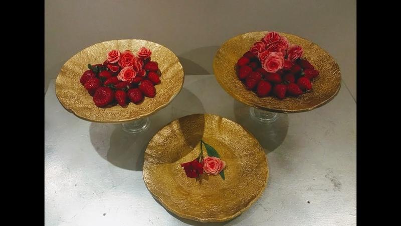 Luxuosos pratos para servir e decorar feitos de cimento se inscreva e ative o sininho 😍