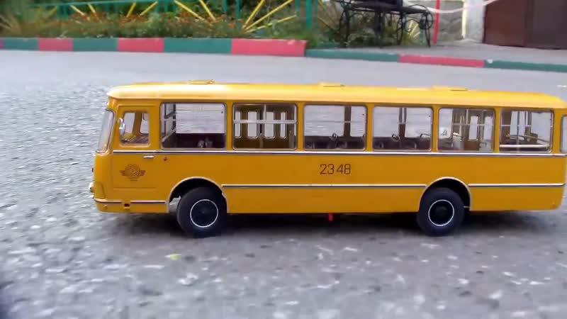 Test Drive радиоуправляемой модели автобуса ЛиАЗ-677М Classicbus - неодимовая магнитная подвеска