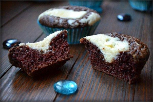 """""""Шоколадные кексы с творожным кремом"""""""