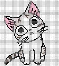 Кот картинка по клеточкам