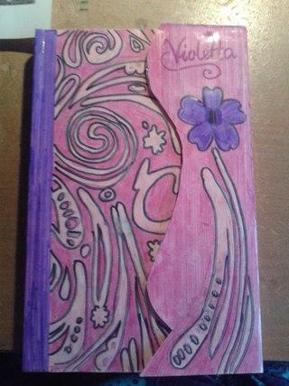 Фото как сделать дневник виолетты своими руками