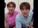 Jaehyun jamming with jungwoo 2018
