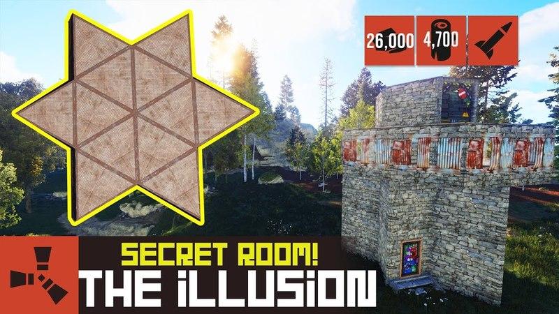 The Illusion - Exploit solo base - Hidden room! - Building 3.2 - Rust Base Design