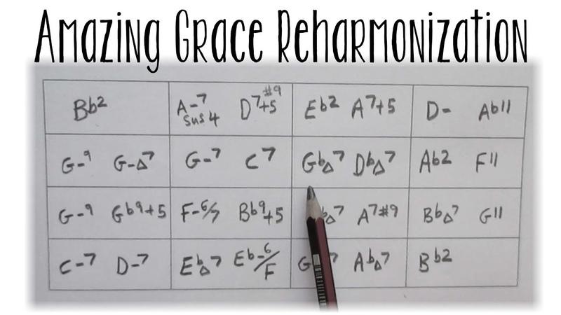 6 Amazing Grace 'Soul/Jazz' Reharmonizations screen Tutorial