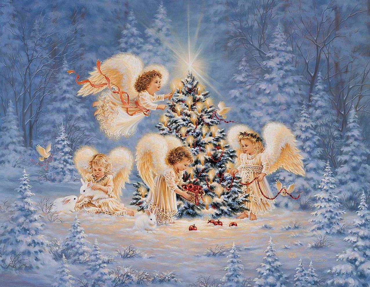 Открытка на новый год и рождество