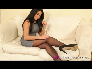 Charley s sexy dress lingerie tease nylons