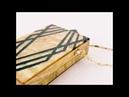 New Geometric Pattern Beige Acrylic Clutch Bag Trendy Chain Bag