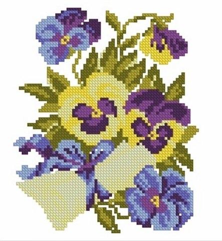 Вышивка цветы (10 фото) - картинка