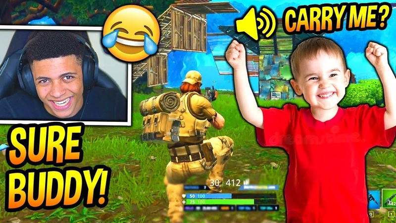 MYTH PLAYS FORTNITE WITH A FUNNY LITTLE KID! *HILARIOUS* Fortnite SAVAGE FUNNY Moments