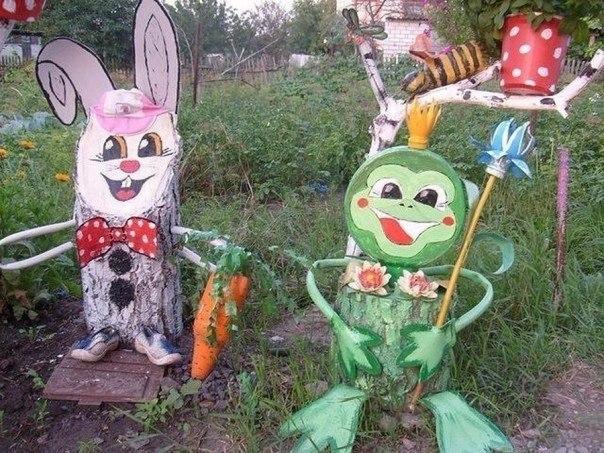 Фигуры из бревен своими руками фото для детского сада 832