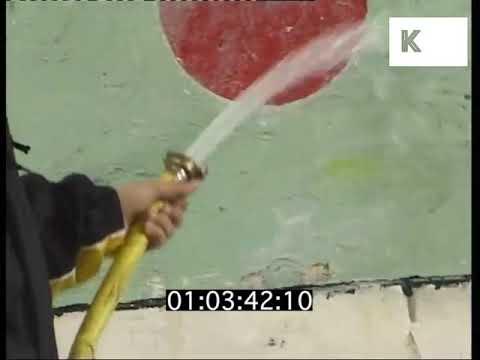 1990s Kids Cleaning Up Graffiti, London, UK