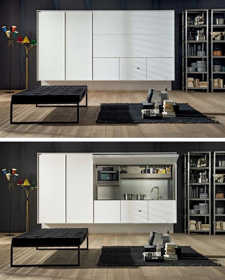 On/Off - спрятанная кухня от Boffi - http://kvartirastudio.