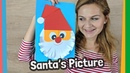 Santa Claus Christmas Picture Craft for kids