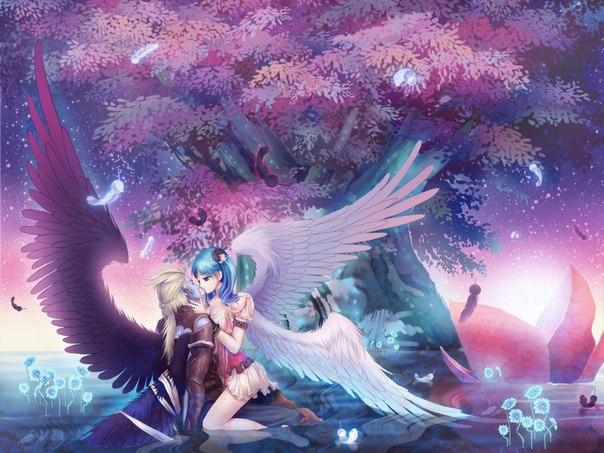 Аниме любовь ангелы и демоны updated the