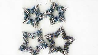 Large Open Double-Sided Star Bead Weaving Tutorial