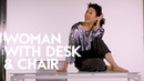 Sandra Oh Teaches You How To Kill It | Woman with Desk and Chair | InStyle