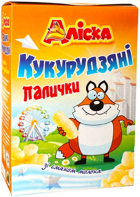 Палички кукурудзяні з молоком, Аліска, 140 г