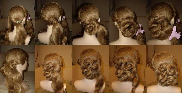 Причёска на выход своими руками