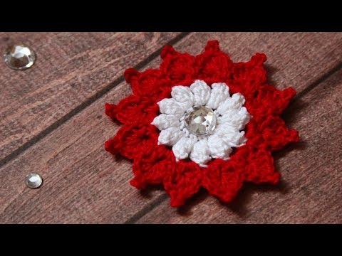 Цветок крючком | Как связать цветок крючком