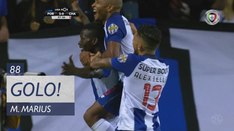 Гол Мариюса (88 минута, Порту – Дешпортиву де Шавиш 5:0)