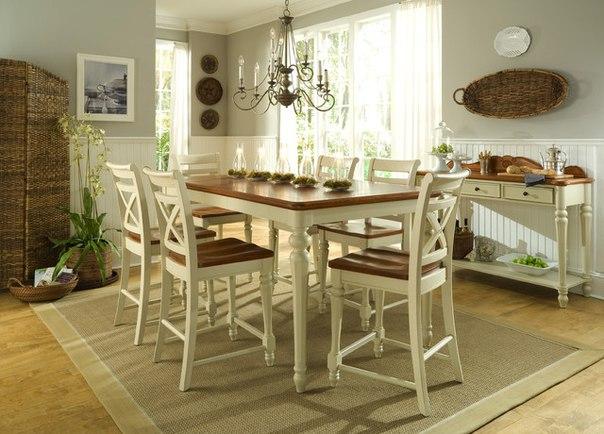 Столовая или столовая зона в стиле прованс
