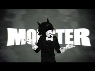 【MMD】Gumi- MONSTER - Bendy (bendy and the ink machine)